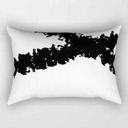Black and White Line Drawing Minimalism Art no.4 Rectangular Pillow