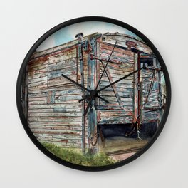 Farm Pigsty with a Difference Wall Clock