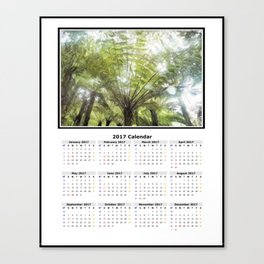 Fern tree, NZ Calendar 2017 Canvas Print