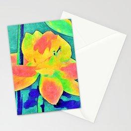 Teal Crocus Stationery Cards