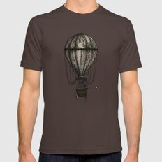 The Great Traveller Sending Paperplanes Brown Mens Fitted Tee LARGE