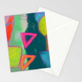 Abstract Digital Painting Stationery Cards