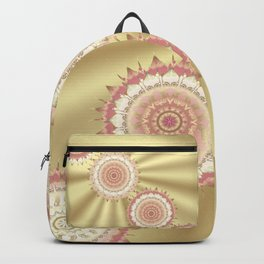 Delicate Mandalas on Gold Backpack