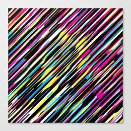 Diagonals color mix Canvas Print