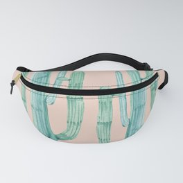 Besties Cactus Friends Turquoise + Coral Fanny Pack