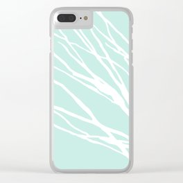 Aqua Blues Clear iPhone Case