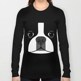 Boston Terrier Close Up Long Sleeve T-shirt