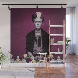 Pink Frida Wall Mural