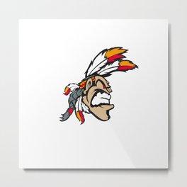 American indian man. Mascot. Kentucky. Metal Print