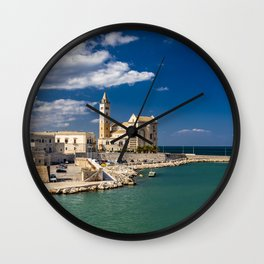 The beautiful Romanesque Cathedral Basilica of San Nicola Pellegrino, in Trani Wall Clock