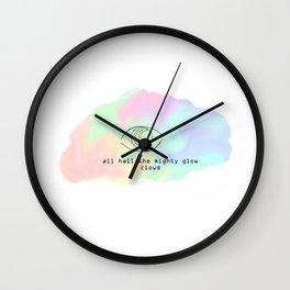 All Hail the Mighty Glow Clowd (Pillow Talk) Wall Clock