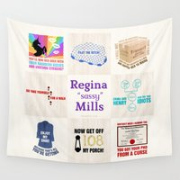 """sassy Wall Tapestries featuring Regina """"Sassy"""" Mills by CLM Design"""