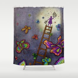 Ladder of Education Shower Curtain