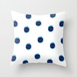 Happy Blues Throw Pillow