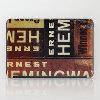 hemingway iPad Cases featuring 3x Hemingway by Ryan W. Bradley