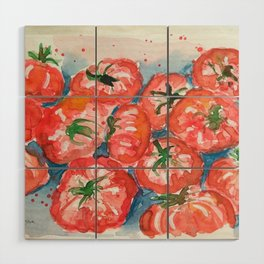 Tomatoes Wood Wall Art
