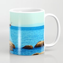 Spanish Galeon by the Rocks Coffee Mug