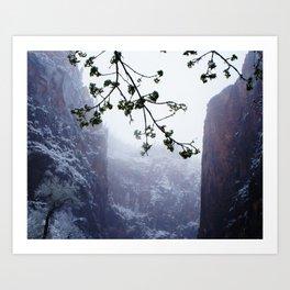 Secret Snow Mountain (crop) Art Print