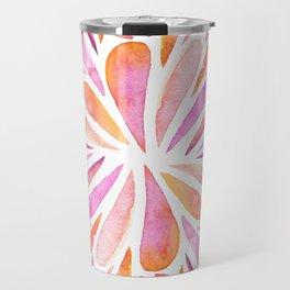 Symmetric drops - pink and orange Travel Mug