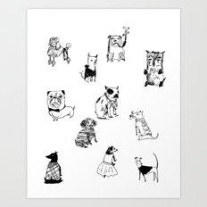 Stylish Pets Art Print