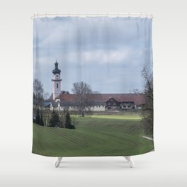 View on Peter and Paul church Laupheim-Germany Shower Curtain