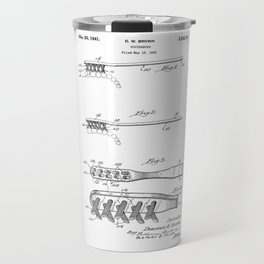 patent art Brown Toothbrush 1939 Travel Mug
