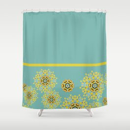 bee's flower down Shower Curtain
