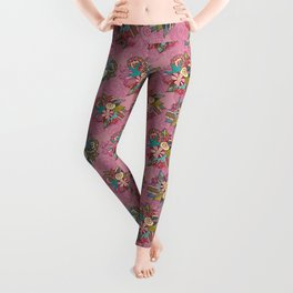 Ocean pink pattern Leggings