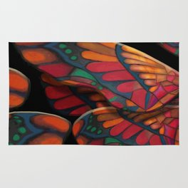 """""""A thousand colors of butterfly wings"""" Rug"""