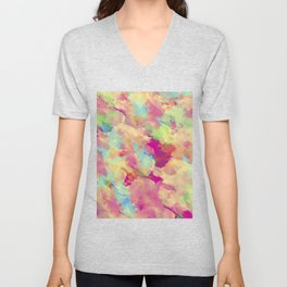 Abstract 40 Unisex V-Neck