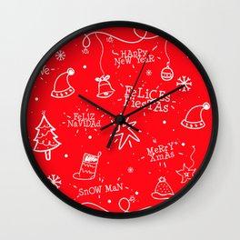 Felices Fiestas! Wall Clock