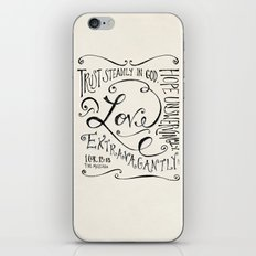 Love Extravagantly scripture print iPhone & iPod Skin