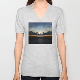 Abstract Environment 03: Volcano Unisex V-Neck