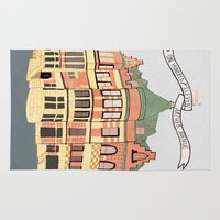 archer Area & Throw Rugs featuring Archer Avenue by Nan Lawson