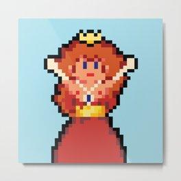 Pixel Damsel Metal Print