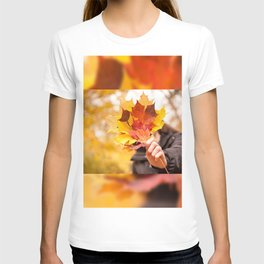 Acer autumn bunch yellow red leaves T-shirt
