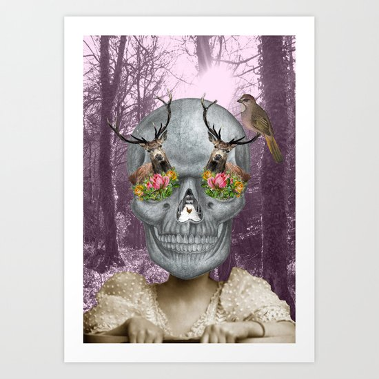 Woodland hangover Art Print