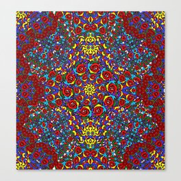 10 Red roses Mandala Canvas Print