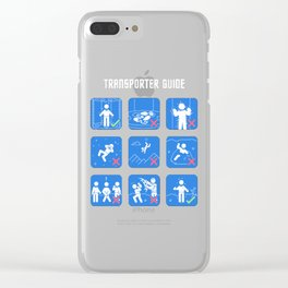 Transporter Guide Clear iPhone Case
