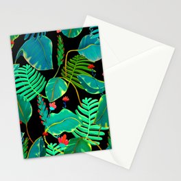 black nigth and color nature Stationery Cards