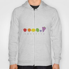rainbow fruits for equality Hoody