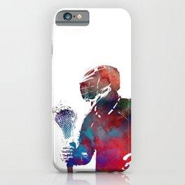 lacrosse sport art #lacrosse #sport iPhone Case