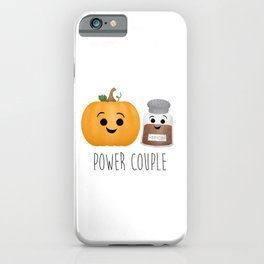Pumpkin + Spice = Power Couple iPhone Case