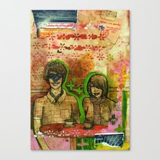 Heart Face Canvas Print