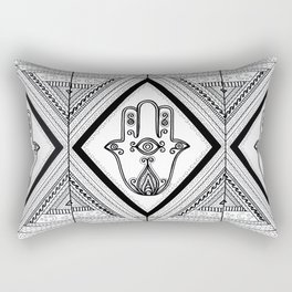 Hamsa Hand Black & White Rectangular Pillow
