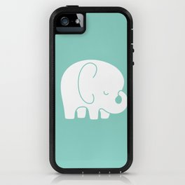 Mod Baby Elephant Teal iPhone Case