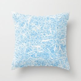 White Out Frost Throw Pillow