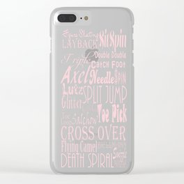 Figure Skating Subway Graphic Design Clear iPhone Case