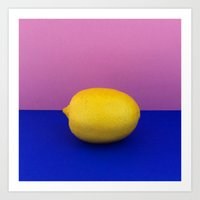 lemon Art Prints featuring Lemon by Avarist Fever