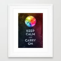 keep calm Framed Art Prints featuring Keep Calm by Michael Flarup